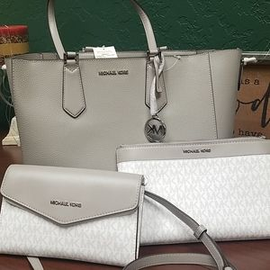 Michael Kors Tote  3 piece set